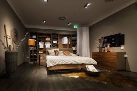 Schlafzimmer Team7 Float Bett Massivholz Nussbaum Mit Lederkopfteil