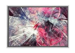 pink grey black abstract canvas
