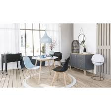 Runder Esstisch 4 Personen D90 Weiß Spring Maisons Du Monde