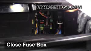 interior fuse box location 2010 2016 bmw 528i 2011 bmw 528i 3 0 5 test component secure the cover and test component