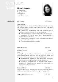 Resume Cv Example Nice Sample Cv Resume Free Career Resume Template