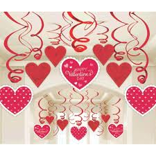 office ideas for valentines day. Hanging Valentines Day Decorations Foil Swirl 30 Pc Kit Party Home Office Decor Ideas For