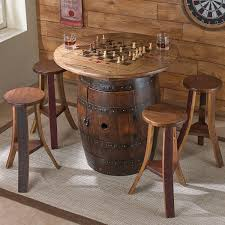 genuine whiskey barrel game table set wine barrel furniture whiskey barrel photodetails from se ideas wine
