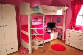 bunk bed with slide and desk. Pink Loft Bed Beds With Desk For Girls Little Girl Slide Desks Futon Bunk Bunk Bed With Slide And Desk