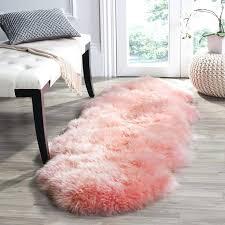 pink fur rug rose smoke faux