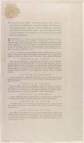 magna carta and the u s constitution magna carta muse and proposed articles of amendment to the federal constitution bill of rights james madison s personal copy of printed broadside