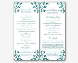 Program Templates Word Free Printable Wedding Program Templates Word Vastuuonminun 5