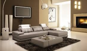 gray leather sectional sofa with a coffee table modern living living room furniture los angeles
