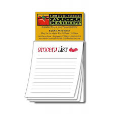 "Business Card Magnets With ""grocery List"" Notepad 