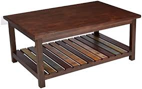 ashley furniture signature design mestler coffee table tail height rectangular rustic brown