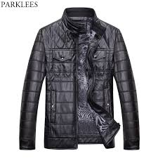 2018 Wholesale Motorcycle Pu Leather Jacket Men 2017 Winter ... & 2018 Wholesale Motorcycle Pu Leather Jacket Men 2017 Winter Thicker Quilted  Jacket Pocket Casual Leather Mens Jackets Slim Fit Zipper Jaqueta From ... Adamdwight.com