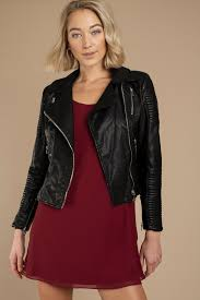 leather jackets black wynne quilted moto jacket