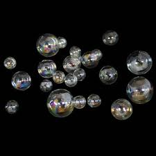 Clear Glass Balls Decorative Unique Home Jewelry Decor Gifts Lampworking Small Christmas Round