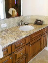excellent glass tile backsplash in bathroom cool ideas