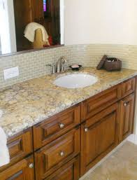 excellent glass tile backsplash in bathroom cool ideas