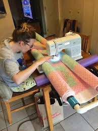 PCP pipe for quilting | Sewing Tips + Techniques | Easy Tips ... & Homemade quilt frame for domestic sewing machines Adamdwight.com