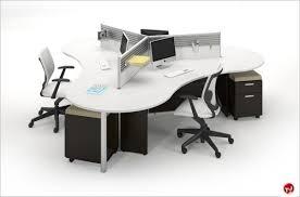 office desk workstation. Picture Of Milo Cluster 3 Person Cubicle Office Desk Workstation Office Desk Workstation