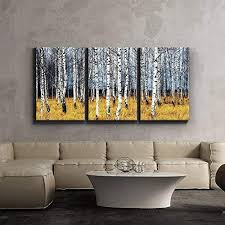 3 piece canvas print contemporary art modern wall decor beautiful aspen trees fall colors giclee artwork gallery wrapped wood stretcher bars  on beautiful wall art pictures with beautiful wall art amazon