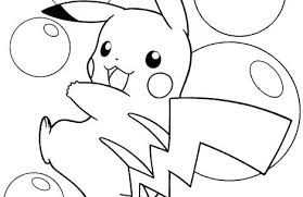 Pokemon Coloring Pages Pikachu Cute For Girls And Up Charming Po