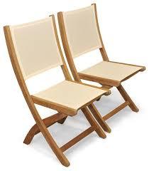 teak folding providence chair batyline cream set of 2