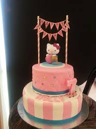 Hollys 7th Birthday Hello Kitty Cake Brookes Style Hello