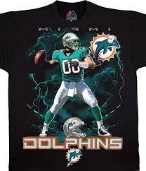 Black Blue Miami Quarterback Tee Liquid Nfl T-shirt Dolphins