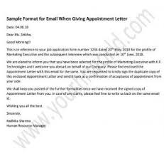 How To Write Appointment Letter How To Write An Email While Giving Appointment Letter With
