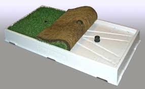 elegant dog patio potty or training sod shown rolled back on porch potty premium 71 large good dog patio potty