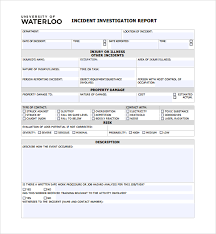 Accident Report Template Word Sample Investigation Report Template 100 Free Documents in PDF Word 95