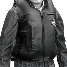 custom series men s airbag vest 2x large leather