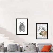 Cute <b>Cartoon</b> Animal <b>Bear</b> Minimalist <b>Art</b> Canvas <b>Poster Print</b> ...
