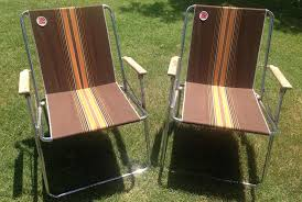 these retro lawn chairs are a relic from the golden age of airstream camping