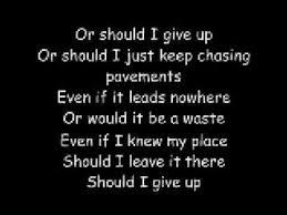 chasing pavements w s