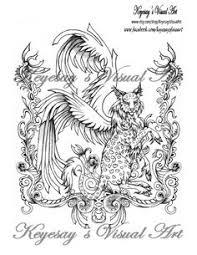 ombi the half kirin for fantasia my coloring book