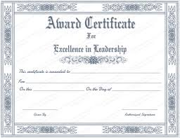 School Certificate Templates Magnificent Leadership Award Certificate Templates Feedscast