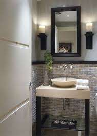 Backsplash Bathroom Ideas Amazing Powder Room Tile Half Way Up So Pretty Love This For A Spare Bath
