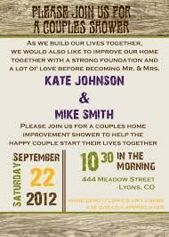 Rustic Poster Style Couples Shower Bridal Shower Invitation