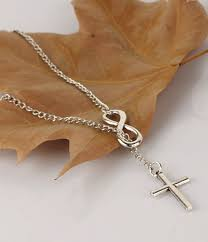 infinity and cross necklace. subtle infinity cross necklace 2.1 and