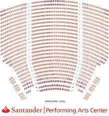 Santander Arena Seating Chart With Seat Numbers Santander Performing Arts Center Seating Chart Best