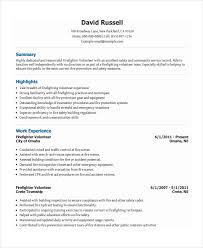 Firefighter Resume Template Gorgeous Firefighter Resumes Templates 28 Firefighter Resume Templates Pdf Doc