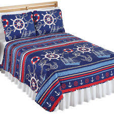 nautical themed bedding. Simple Bedding Gilligan Nautical Themed Dcor Bedding Quilt Coverlet By Collections Etc On M