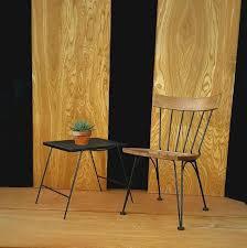 mid century lyman woodard chair black iron ash accent chair mcm minimalist side chair vine