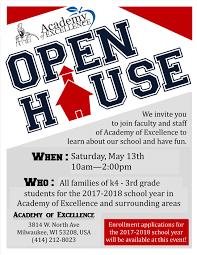 Aoe Open House Milwaukee Academy Of Excellence