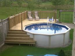 above ground swimming pool with deck. Beautiful Swimming With Above Ground Swimming Pool Deck PoolXperts