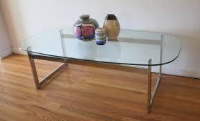 mid century modern glass and chrome coffee tables picked vintage within mid century modern glass coffee table