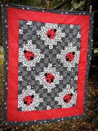 1000+ images about Quilt Irish Chains on Pinterest | English paper ... & Lady bug baby quilt with the double irish chain pattern! Adamdwight.com