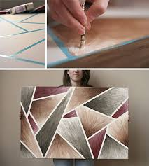 Geometric Painting With Tape