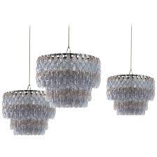 carlo scarpa 1969 poliedri chandelier handblown murano glass light for