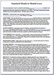 Standard Commercial Lease Agreement Free Printable 6 Month Lease Agreement Form Form Resume Examples