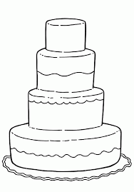 Printable Wedding Cake Coloring Pages High Quality Coloring Pages